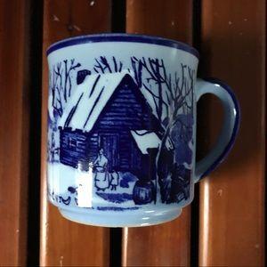 Japanese Blue Winter Mug